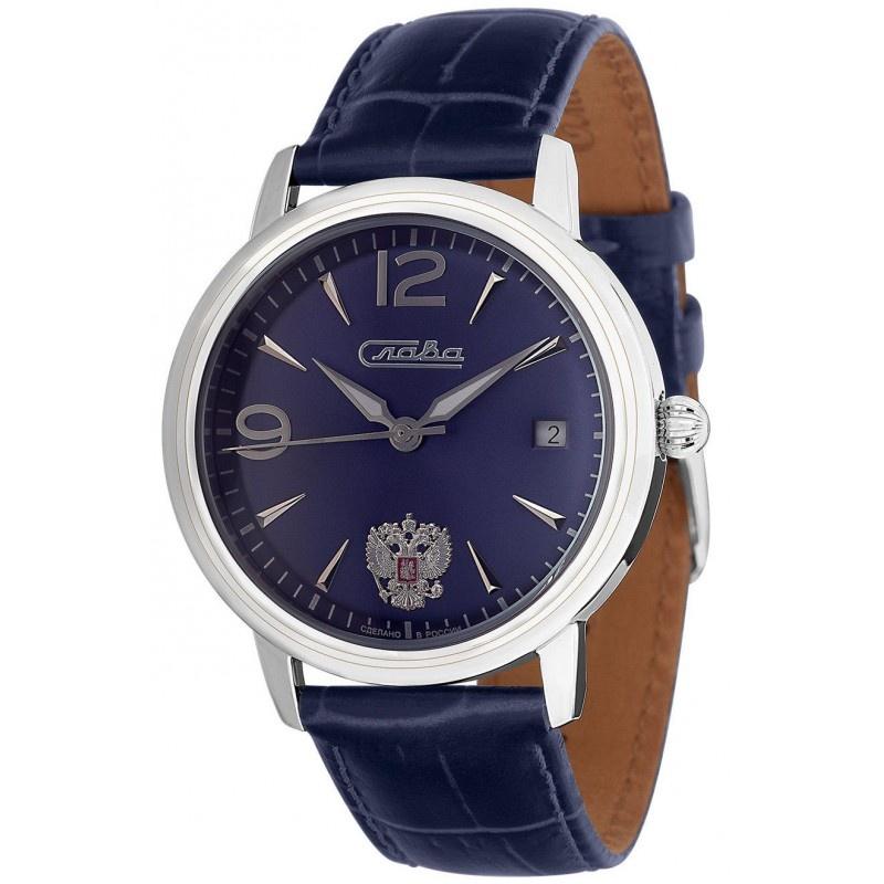 Часы Слава Традиция, 1470846/300-2414, синий, серебристый все цены