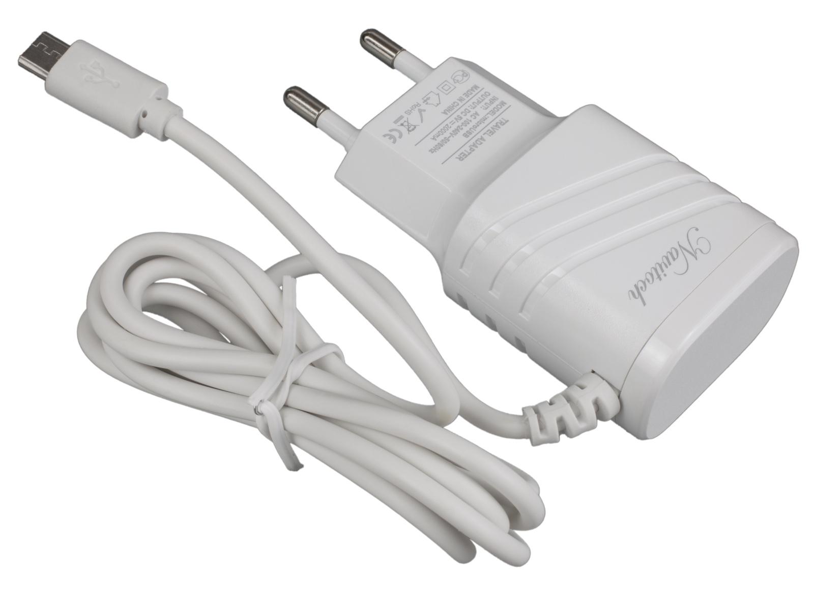 Фото - Зарядное устройство Navitoch microUSB 2A, 3826, белый беспроводное зарядное устройство microusb cellularline fast 160 см