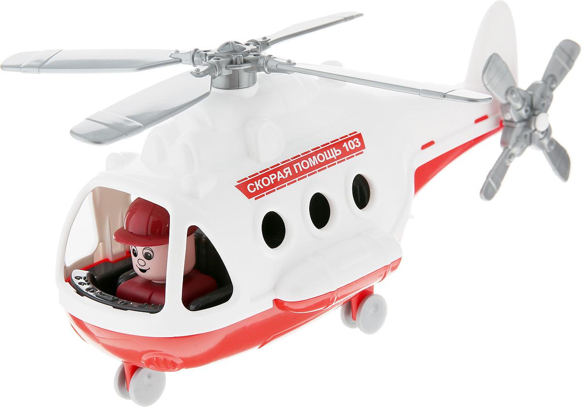 Фото - Вертолет-скорая помощь Полесье Альфа. 72399, цвет в ассортименте viking toys вертолет скорая помощь джамбо 30 см