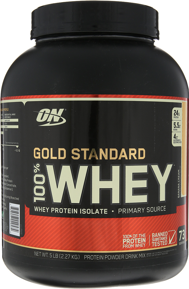 Протеин Optimum Nutrition 100% Whey Protein Gold Standard, банан, 2,26 кг цена