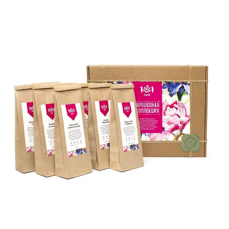 цены на Чай листовой 101 чай набор «Волшебная коллекция»  в интернет-магазинах