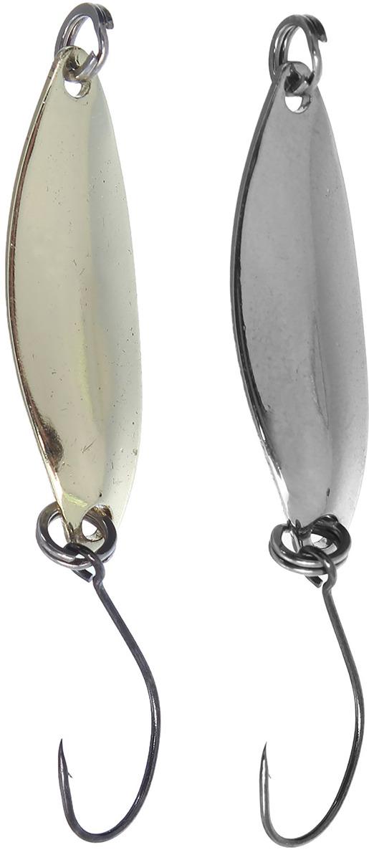 Блесна Onlitop колеблющаяся, крючок без бородки, 1232647, серебристый, золотой, 2 шт
