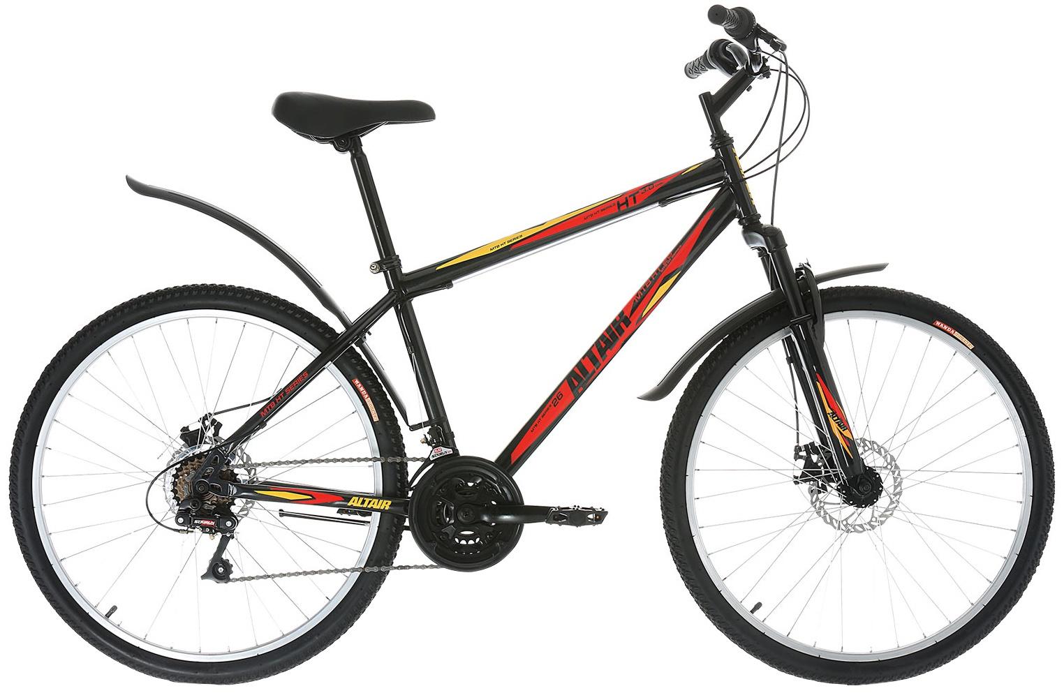 Горный (MTB) ALTAIR MTB HT 26 3.0 disc, RBKT7MN6P015, черный велосипед giant escape 2 disc 2019