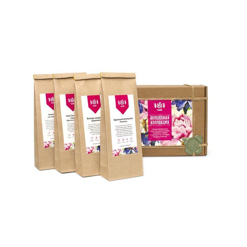 Чайный набор Волшебная коллекция мини зеленый ароматизированный чай медвежья сила