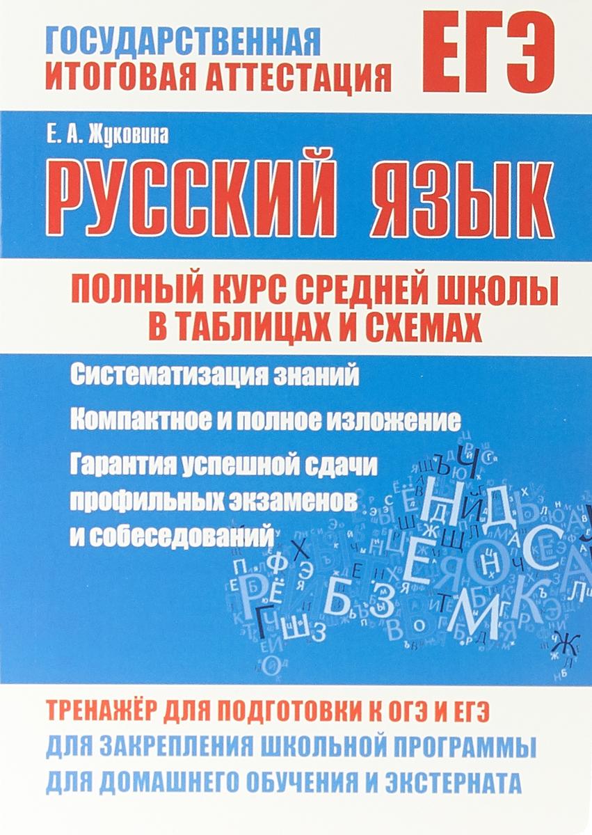 Е А. Жуковина ЕГЭ. Русский язык. Полный курс средней школы в таблицах и схемах