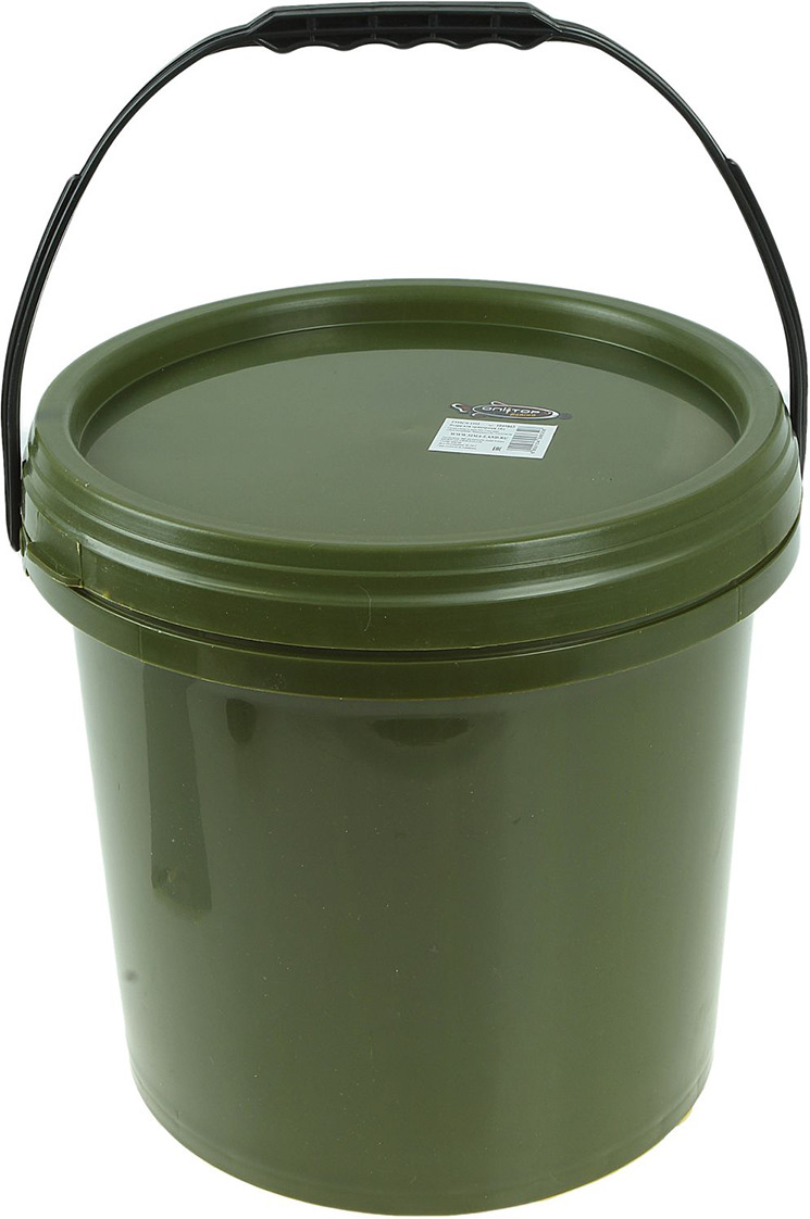 все цены на Ведро для прикормки Onlitop, 1045863, зеленый, 10 л онлайн