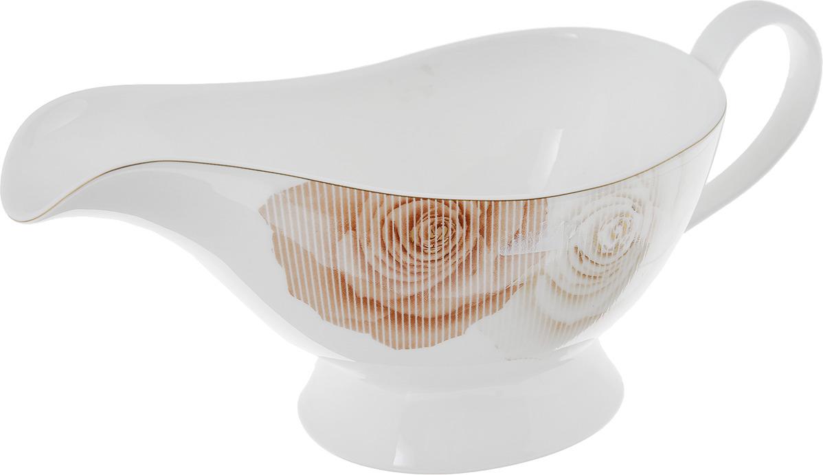 Соусник Narumi Медовая роза, Е-50490-59097Е-50490-59097Японский фарфор во все времена считался образцом качества и визуальной утонченности. Такую посуду отличает изящество форм, изысканность стиля, совершенство текстуры, привлекательная элегантность дизайна. Высокий уровень содержания костной золы в результате обеспечивает японскому фарфору гладкость, исключительную прочность, выразительный блеск. Это все поспособствовало тому, что за японскими фарфоровыми сервизами прочно закрепилась слава столовых и чайных наборов выдающего качества и редкой, необычайной красоты.Размеры:15х10х8,5