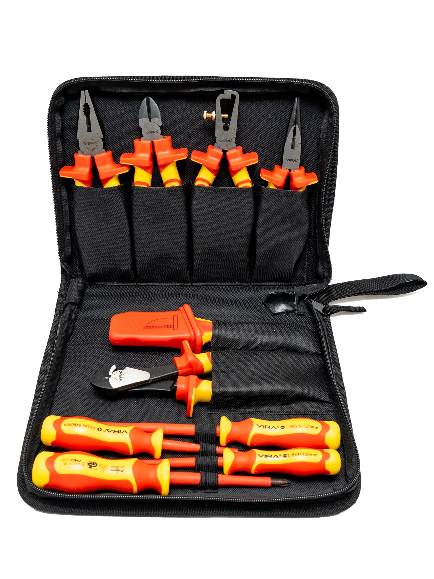 Набор инструментов Vira VDE RAGE, черный, красный, желтый цены