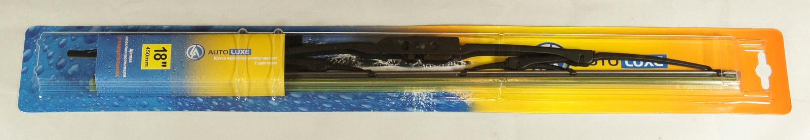 Щетка стеклоочистителя Autoluxe каркасная универсальная 18 дюймов/450 мм, черный цена и фото