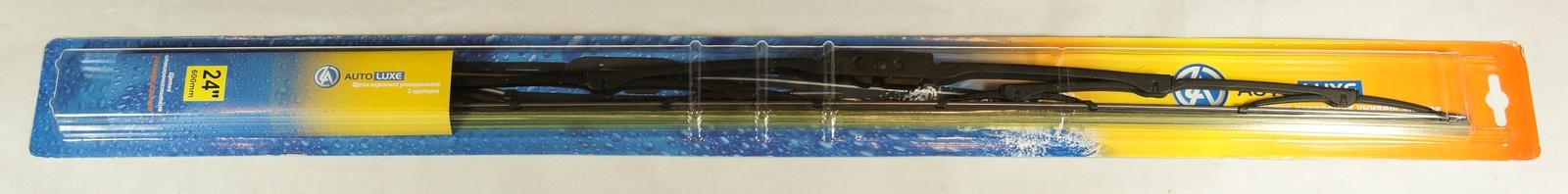 Щетка стеклоочистителя Autoluxe каркасная универсальная 24 дюйма/600 мм, черный цена 2017