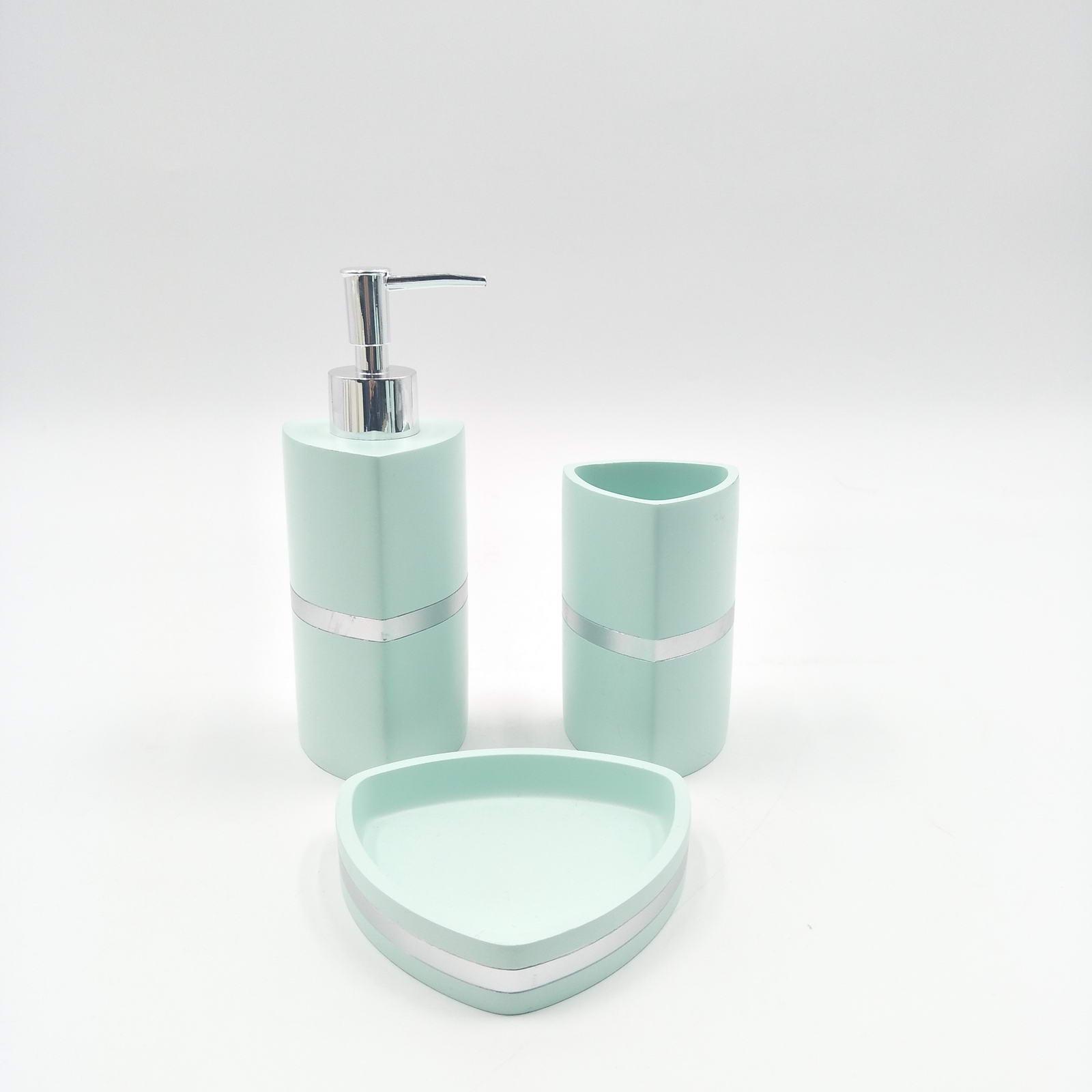 Набор для ванной комнаты Sofi de Marko ВК-55-менМ, ВК-55-менМ, бирюзовый