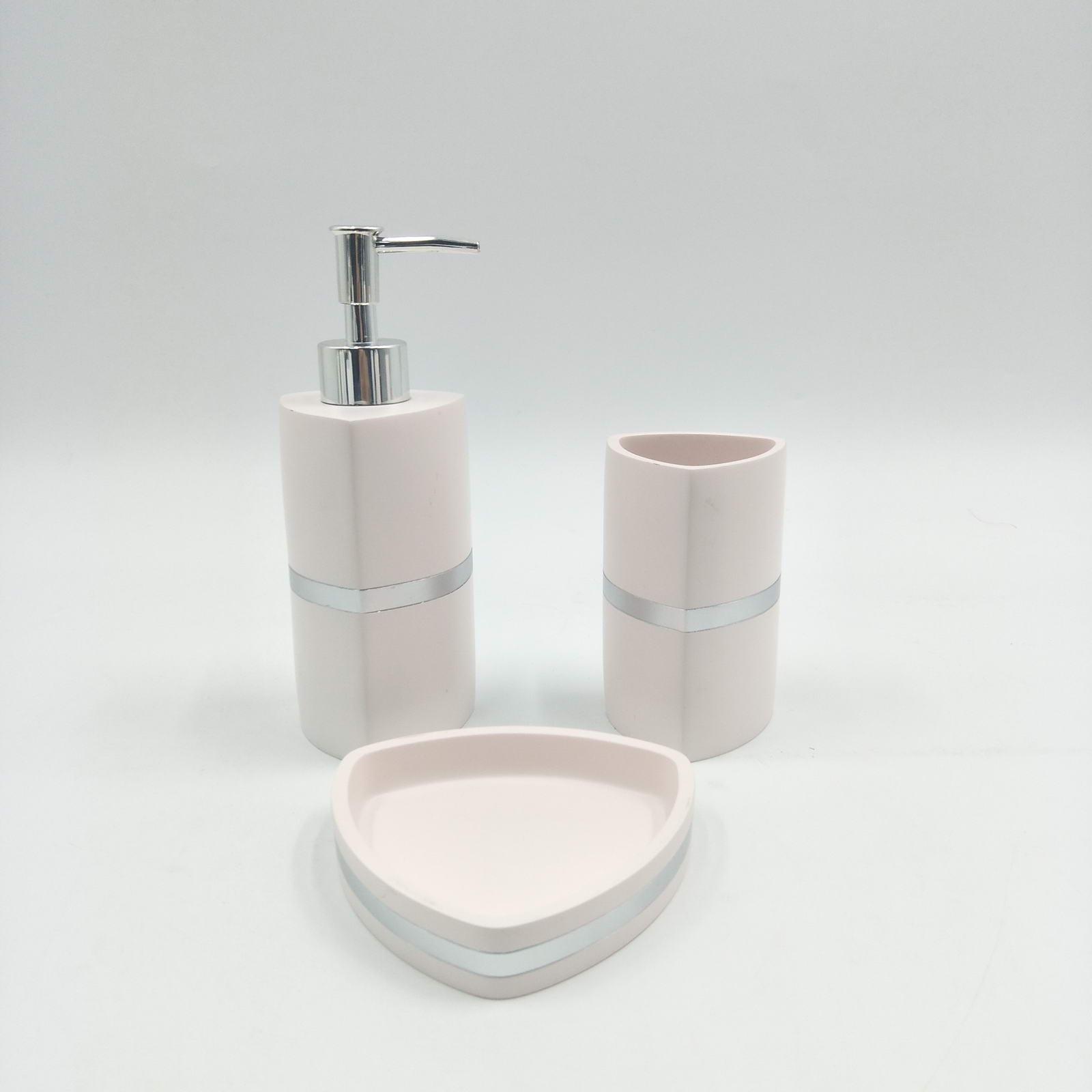 Набор для ванной комнаты Sofi de Marko ВК-55-розМ, ВК-55-розМ, розовыйВК-55-розМПодарочный набор для ванны. Комплектация: Дозатор для жидкого мыла Стаканчик для зубных щеток Мыльница для твердого мыла 100% Полирезина Упаковка: подарочная коробка