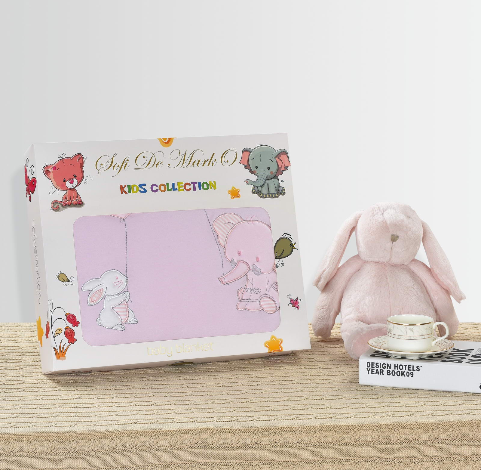 Одеяло детское Sofi de Marko Слоник, Од-Д№1-90х120, розовый
