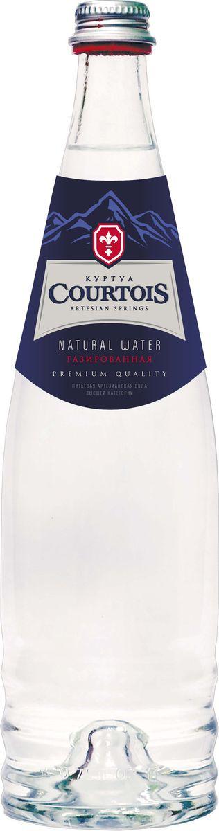 """""""Courtois"""" питьевая артезианская вода высшей категории газированная, 0,75 л"""