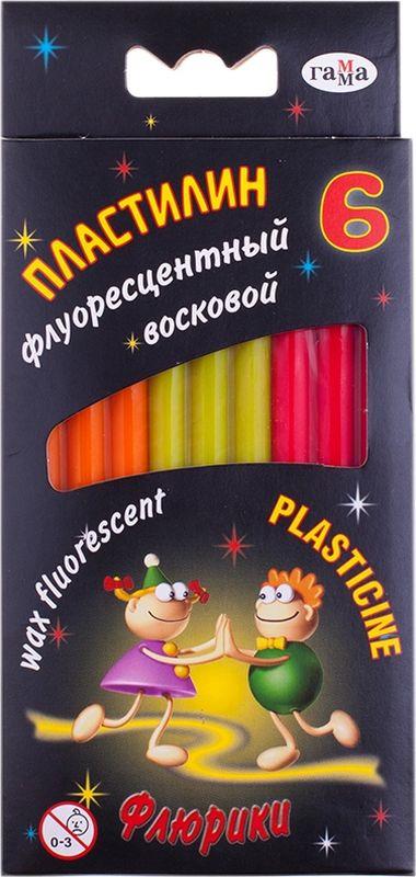 Пластилин восковой Флюрики, 6 цветов набор для лепки гамма пластилин мультики 6 цветов 120g 280015 281015