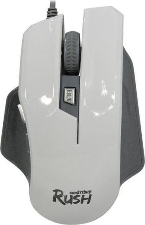 Мышь игровая Smartbuy RUSH 709, SBM-709G-W, белый игровая клавиатура smartbuy sbk 201gu k black игровая