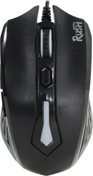 Мышь игровая Smartbuy RUSH 712, SBM-712G-K, черный игровая клавиатура smartbuy sbk 201gu k black игровая
