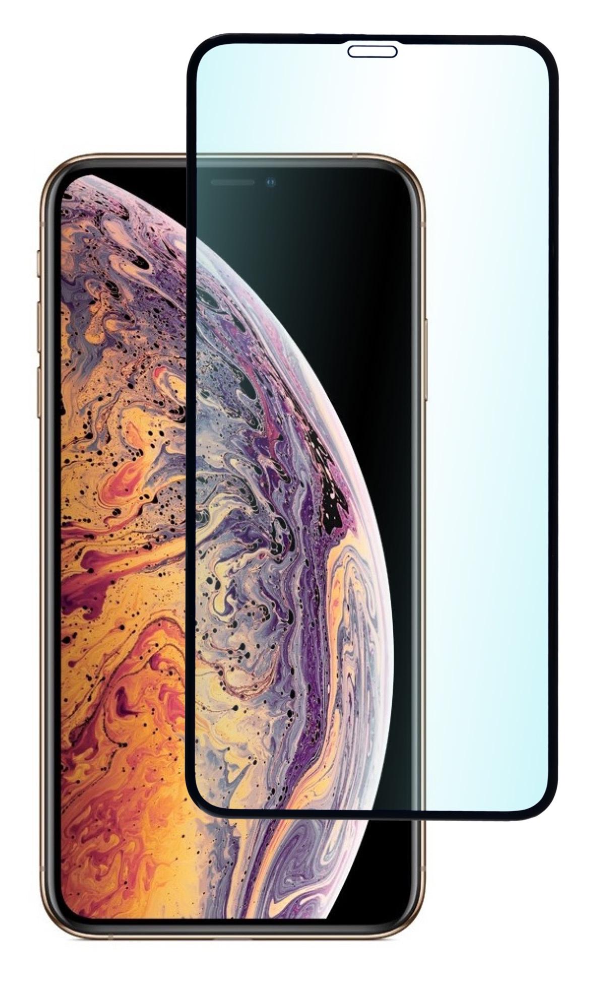 Защитное стекло skinBOX 3D full glue, 4630042522640, черный защитное стекло ubear 3d full cover gl12bl03 i10 для apple iphone x xs с рамкой черный