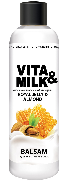 Бальзам для волос Vita&Milk С ароматом маточного молочка и миндаля 250 мл для волос vita