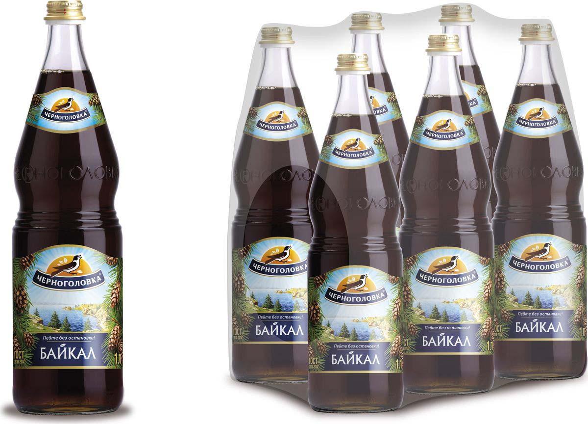 Лимонад Напитки из Черноголовки Байкал, 6 шт по 1 л лимонад напитки из черноголовки дюшес 6 шт по 1 5 л