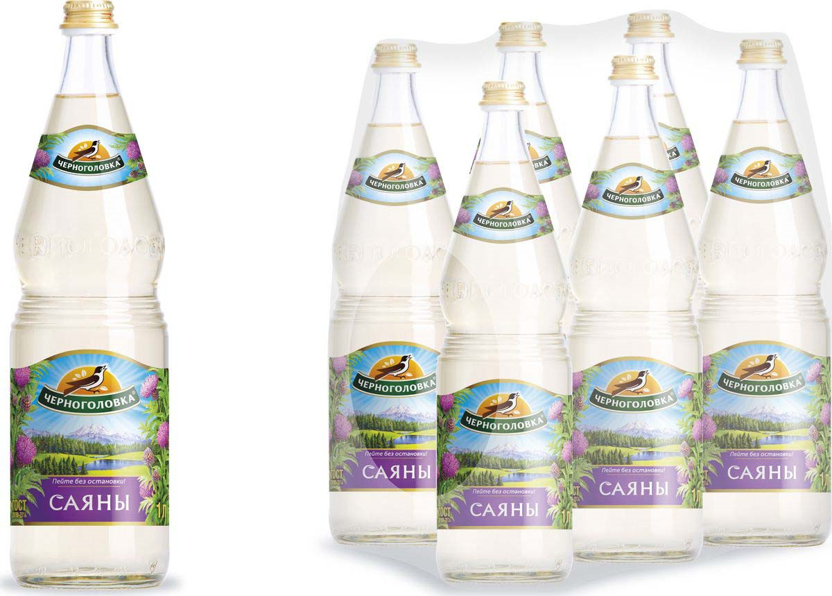 Лимонад Напитки из Черноголовки Саяны, 6 шт по 1 л лимонад напитки из черноголовки дюшес 6 шт по 1 5 л