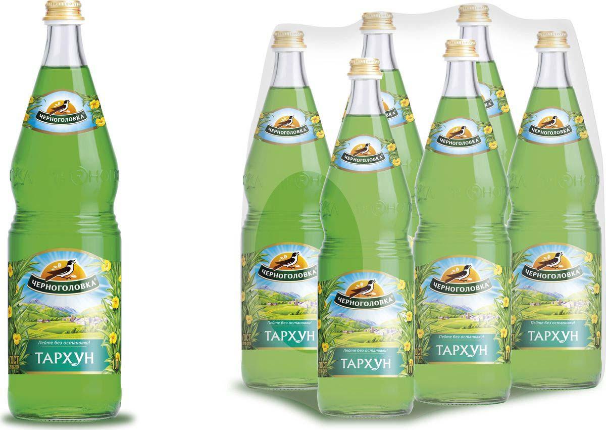 """Лимонад Напитки из Черноголовки """"Тархун"""", 6 шт по 1 л"""