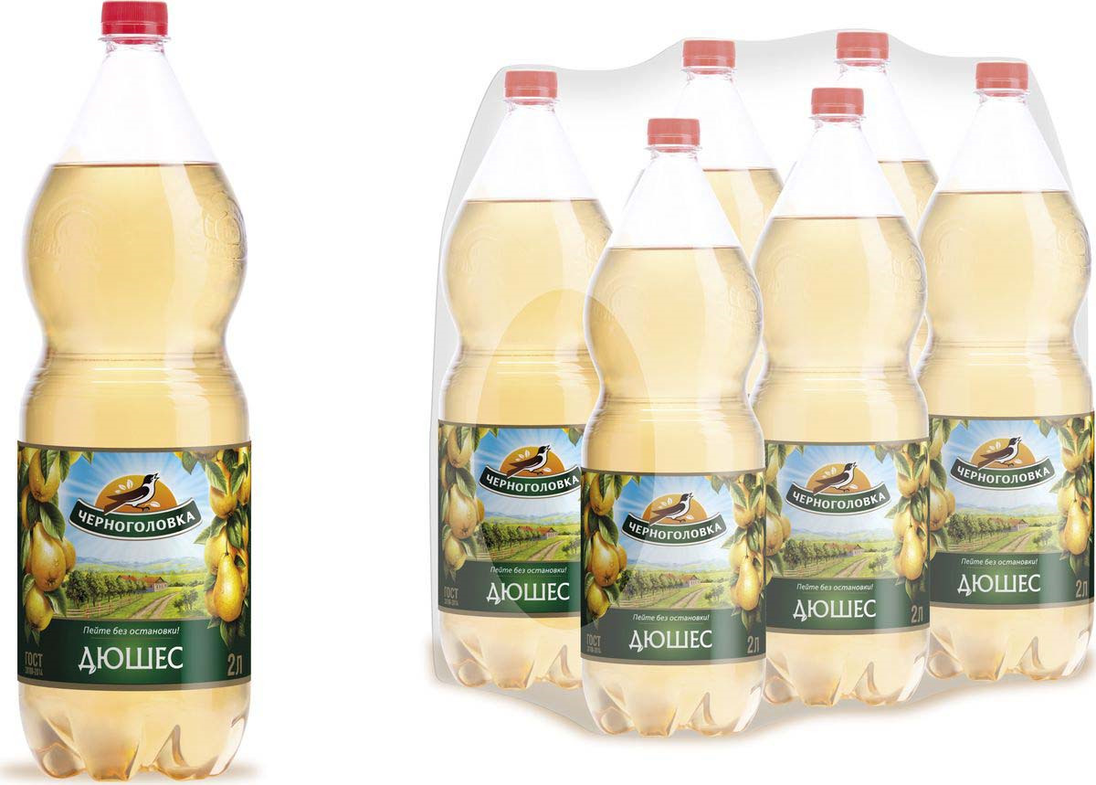 Лимонад Напитки из Черноголовки Дюшес, 6 шт по 2 л лимонад fruktomania дюшес 12 шт по 0 5 л