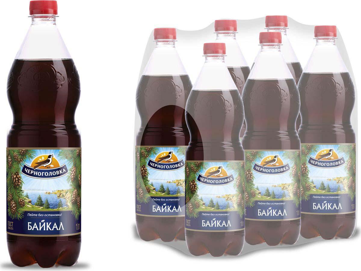 """Лимонад Напитки из Черноголовки """"Байкал"""", 6 шт по 1 л"""