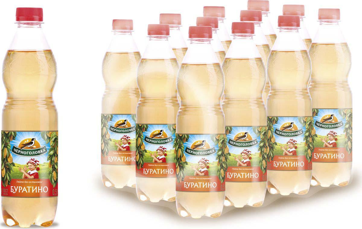 """Лимонад Напитки из Черноголовки """"Буратино"""", 12 шт по 500 мл"""