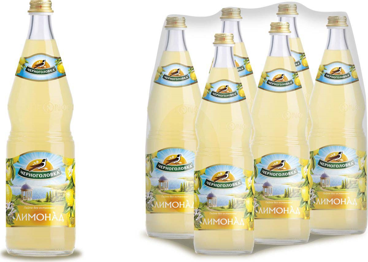 Лимонад Напитки из Черноголовки Оригинальный, 6 шт по 1 л лимонад напитки из черноголовки дюшес 6 шт по 1 5 л