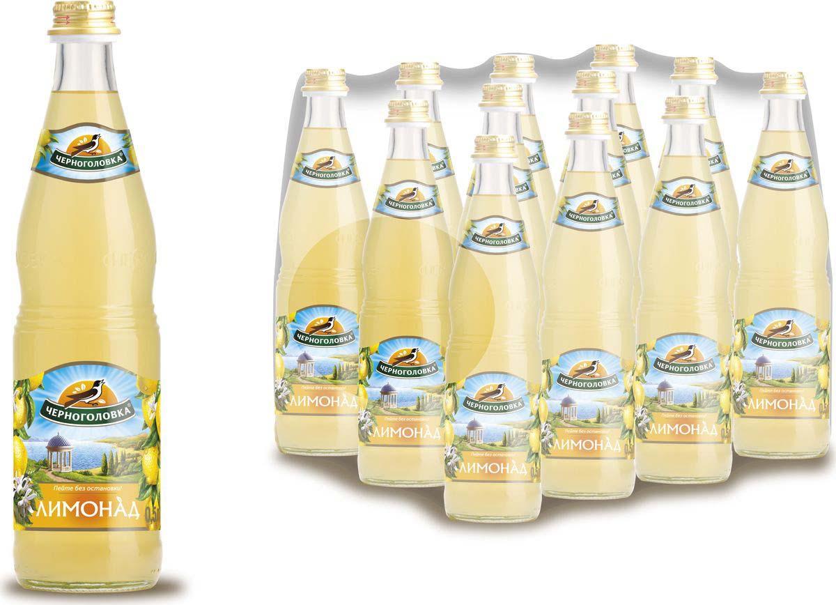 Лимонад Напитки из Черноголовки Оригинальный, 12 шт по 500 мл