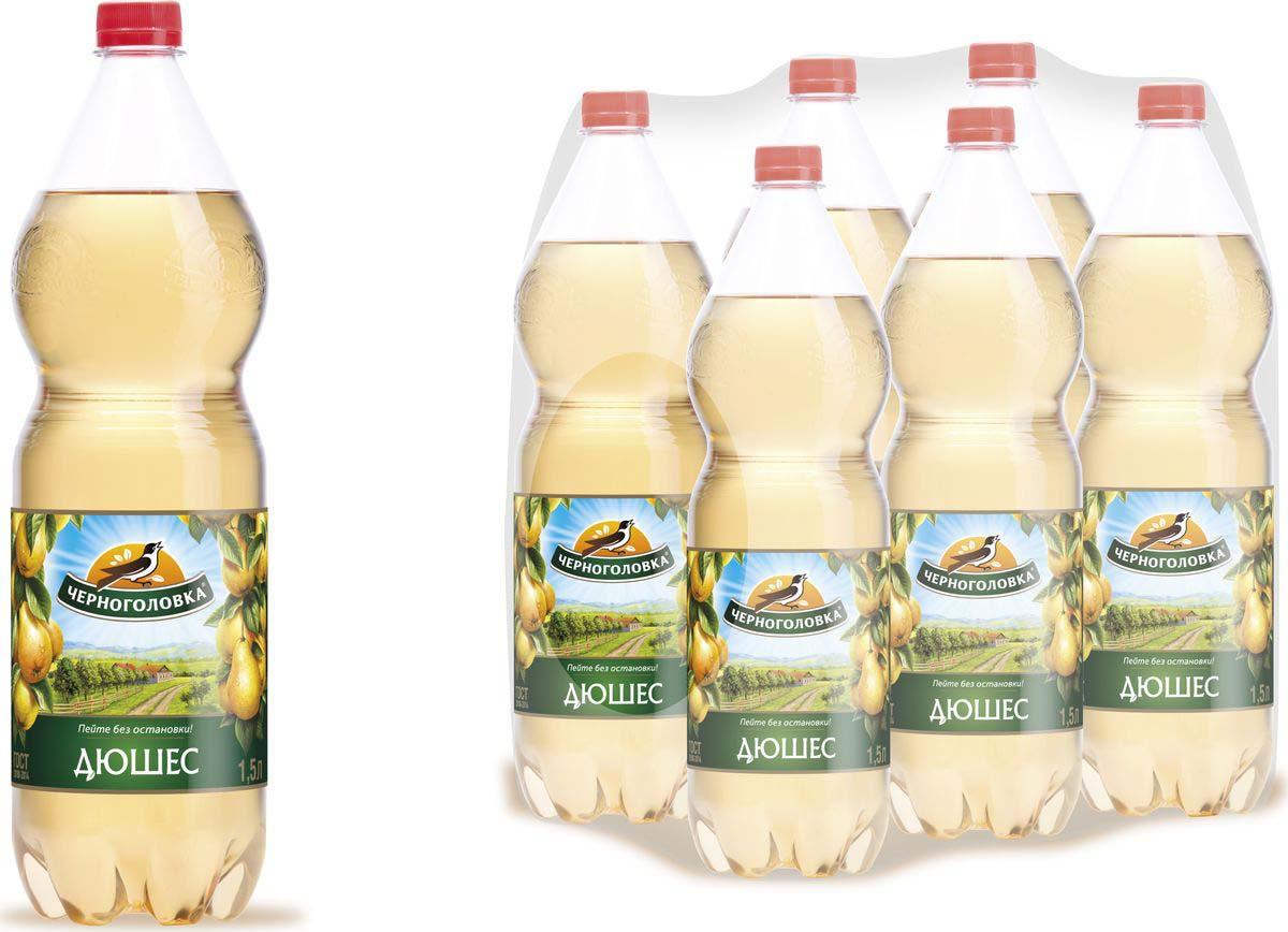Лимонад Напитки из Черноголовки Дюшес, 6 шт по 1,5 л лимонад fruktomania дюшес 12 шт по 0 5 л