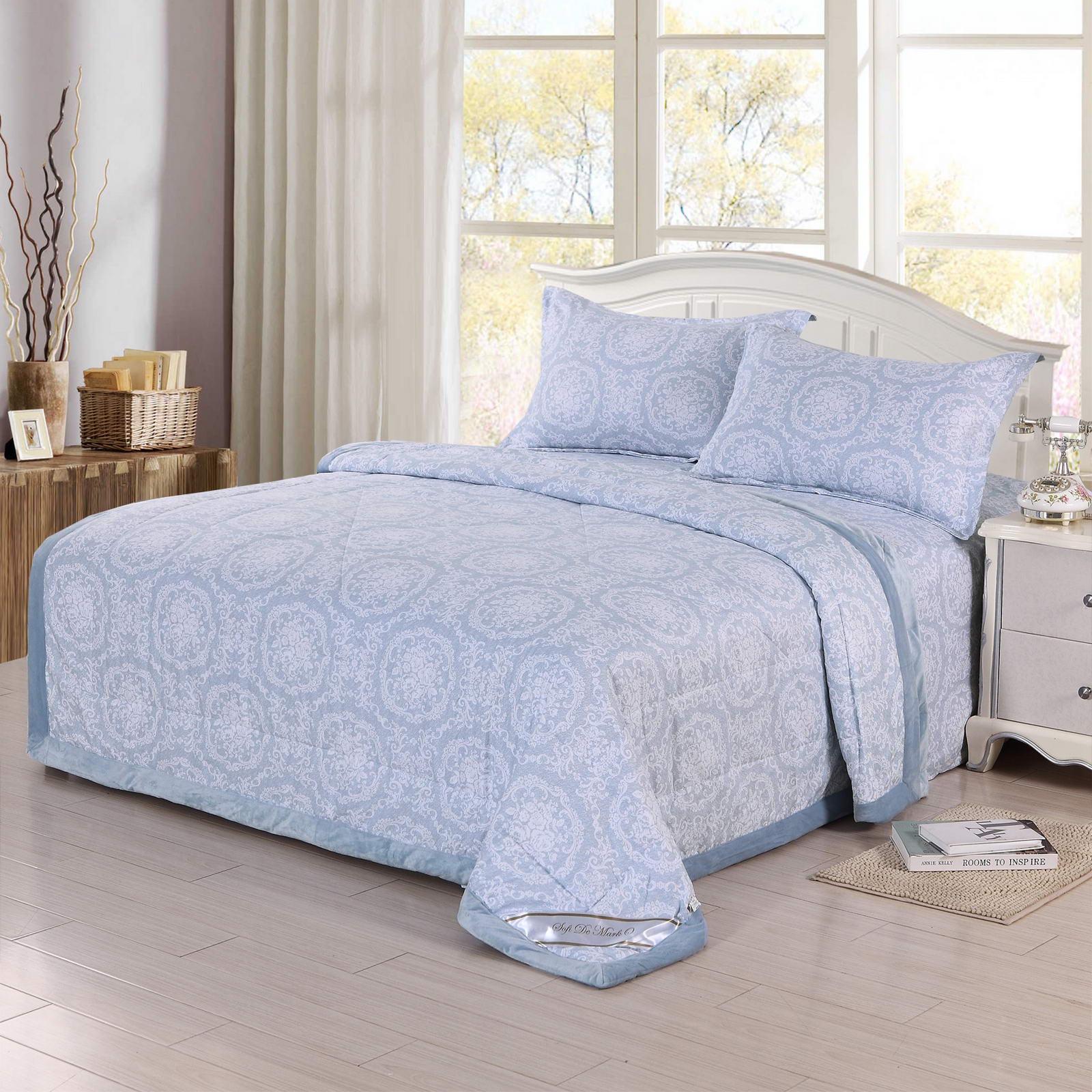 Комплект постельного белья Sofi de Marko Ассоль №9, Евро-Ком-В9, голубой