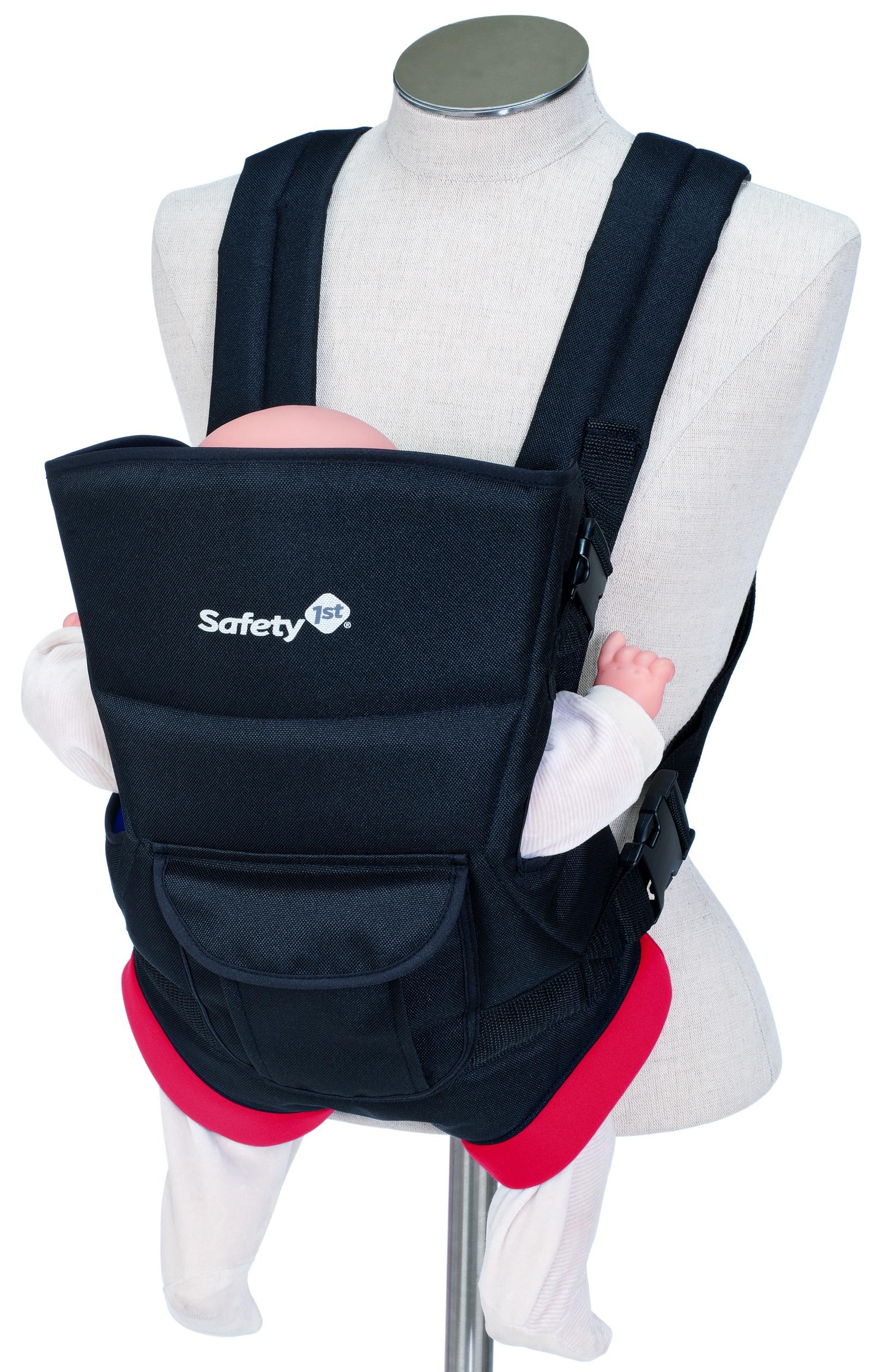 Кенгуру Safety 1st UNI-T 2601885000, 2601885000 черный, красный2601885000Рюкзак-кенгуру Safety 1st UNI-T. Очень удобная модель для ношения малыша с дополнительной поддержкой облегчает нагрузку на родителя. Основные характеристики:•сумка-кенгуру подходит для детей весом от 3,5 до 9 кг ;•вы можете легко достать ребенка из рюкзачка; •мягкие подкладки внутри рюкзачка позволяют ребенку чувствовать себя комфортно и безопасно; •нагрузка распределяется на плечи и спину родителя равномерно; •для большего комфорта родителей дополнительная поддержка для спины и широкие плечевые ремни; •специальная ткань предотвращает потение ребенка; •два положения ребенка - лицом к маме и лицом к дороге; •рюкзак регулируется по высоте и ширине - растет вместе с Вашим ребенком; •кармашек для мелочей сбоку. Вес: 575 г.