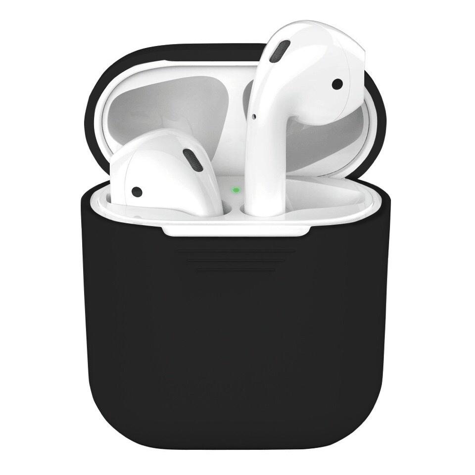 Чехол для наушников SSY для Apple AirPods, Black аксессуар силиконовые насадки gs для apple airpods black airs5