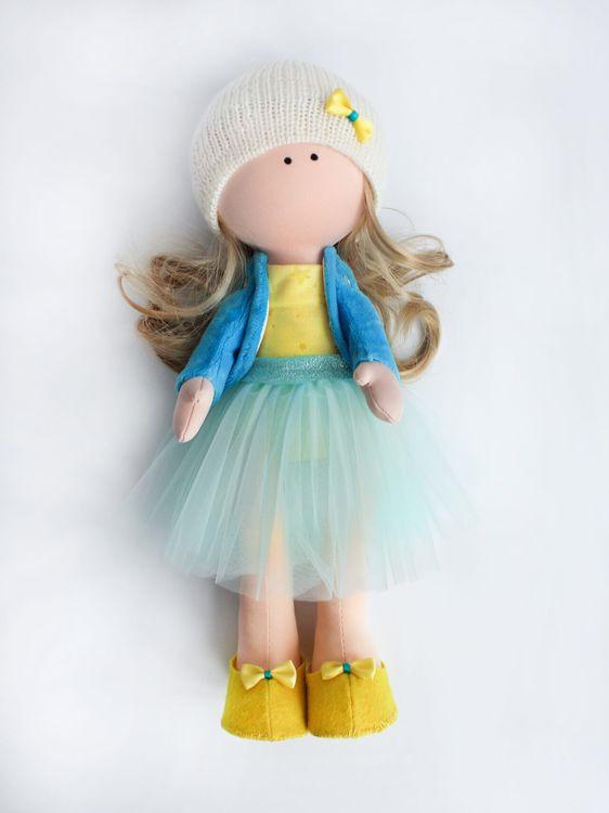 Набор для шитья Цветной Текстильная кукла Эмма, DI045, 35 см аксессуары для шитья scsb017