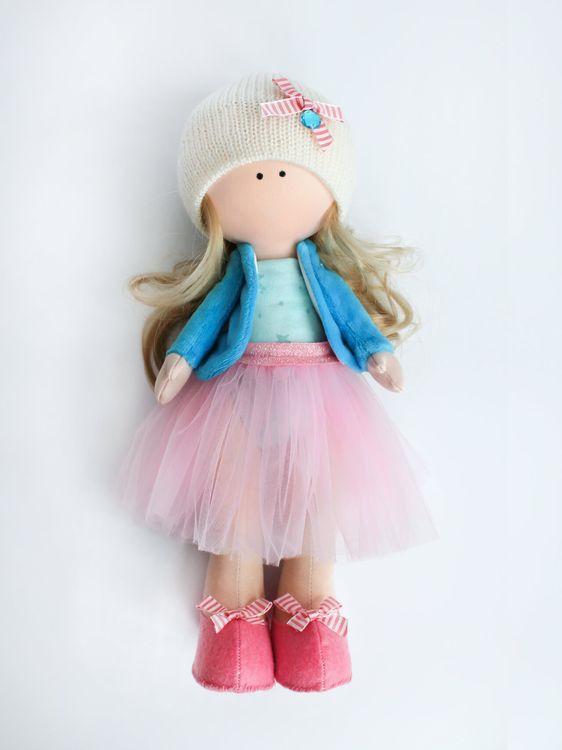Набор для шитья Цветной Текстильная кукла Оливия, DI046, 35 см аксессуары для шитья scsb017