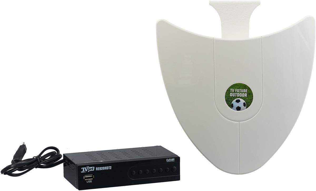 РЭМО TV Future Outdoor, Black White набор для цифрового ТВ детская футболка классическая унисекс printio скорпион