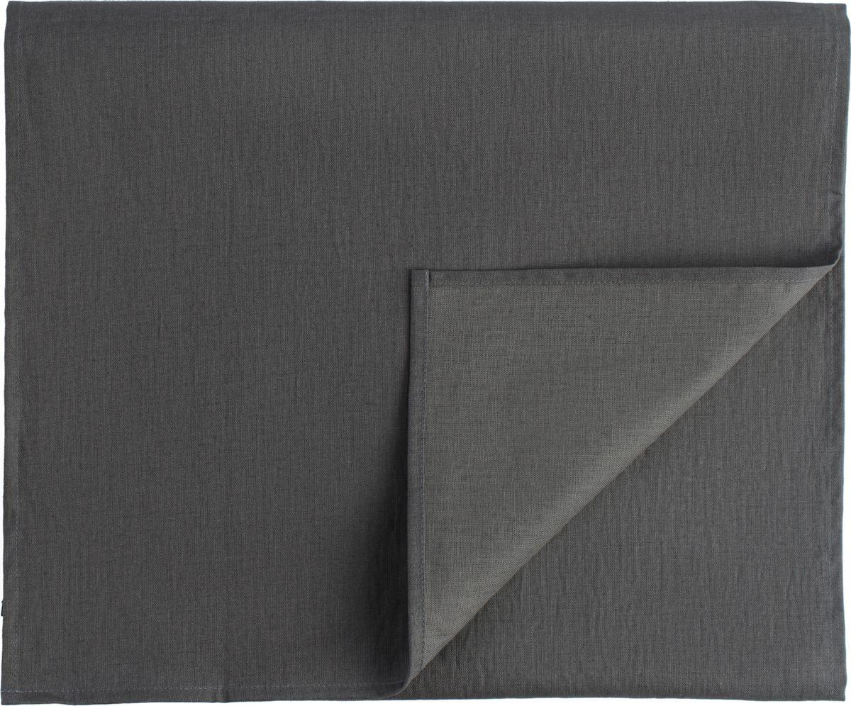 Дорожка на стол Tkano Essential, TK18-TR0013, с декоративной обработкой, темно-серый, 45 x 150 см дорожка на стол tkano essential tk18 tr0012 с декоративной обработкой пыльная роза 45 x 150 см