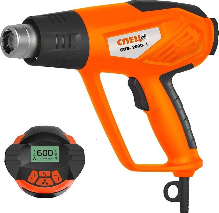 Строительный фен Спец, БПВ-2000-1, оранжевый все цены