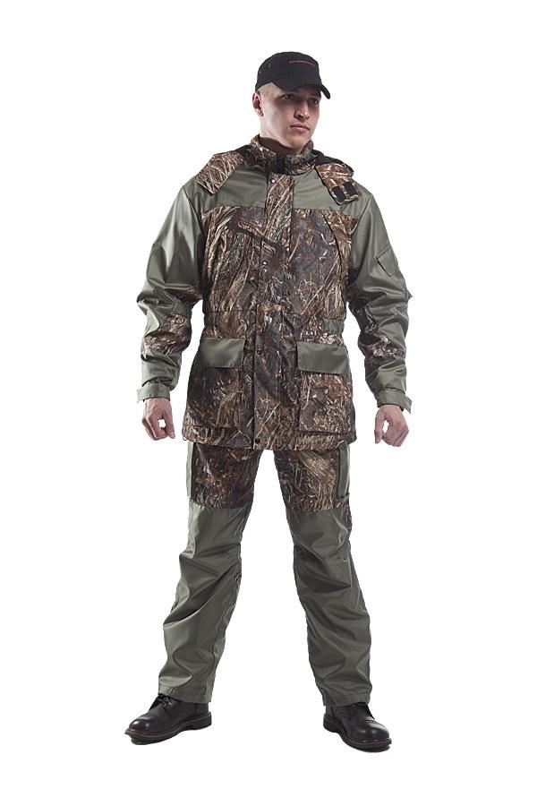 Костюм охотничий ТАЙФ ДО-6020 рр52-54 рт182, зеленый, коричневый 52/54-182 размерДО-6020 рр52-54 рт182Костюм Горка Весна№2 - описание:Костюм разработан на основе легендарного костюма «Горка». Костюм состоит из куртки и брюк на подтяжках. Отличается специальным анатомическим кроем, характерным для данной линии одежды. Он не стесняет движений, дает свободу перемещения в условиях пересеченной местности. Костюм изготовлен из современной ткани, обладающей отличными ветрозащитными свойствами, подкладка-сетка обеспечивает комфорт и пароотведение. Рекомендован для охотников, рыбаков, туристов, любителей военно-спортивных игрТкань Дуплекс Окс240Цвет зеленый/коричневый принтТехнические характеристики:Куртка:свободный крой,центральная застежка молния с ветрозащитным клапаном на кнопках,регулируемый капюшон,два нагрудных кармана на застежке молния,два накладных кармана с клапаном и внутренним карманом на застежке молния,накладной карман на рукаве,анатомический крой рукава в области локтевого сгиба с эластичной лентой для наилучшего прилегания,низ рукава на регулирующейся манжете,перед и спинка, в области линии талии, на эластичной ленте обеспечивающей прилегание,низ регулируется эластичным шнуром с фиксатором.Брюки:пояс притачной на эластичной ленте с шлевками,гульфик на застежке молния,два боковых кармана на застежке молния,два накладных кармана с клапаном,анатомический крой в области колена,притачные бретели из эластичной ленты для наилучшей фиксации брюк на талии.