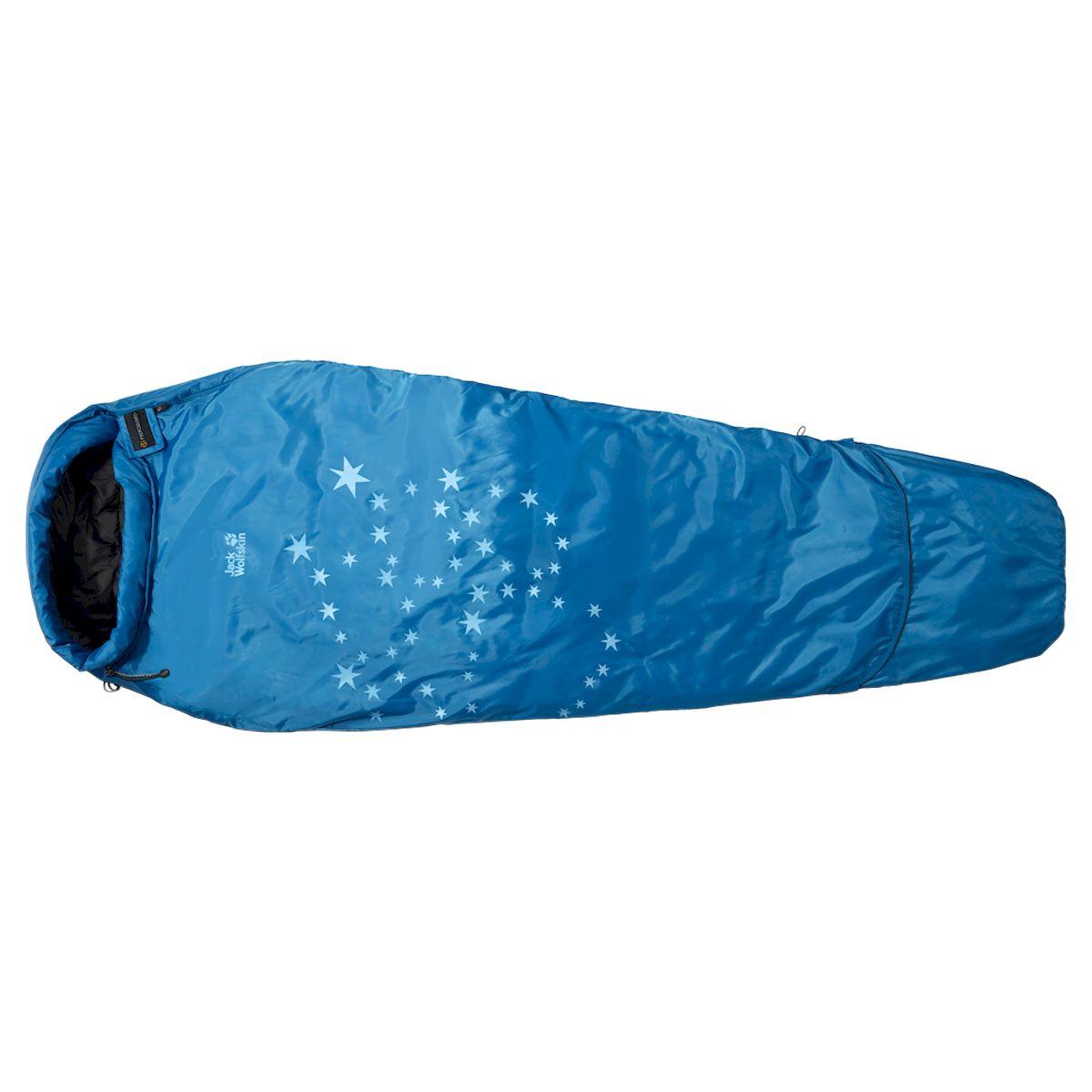 Спальный мешок-кокон Jack Wolfskin Grow Up Star, 3001872-1062, синий, 160 х 70 см цена и фото