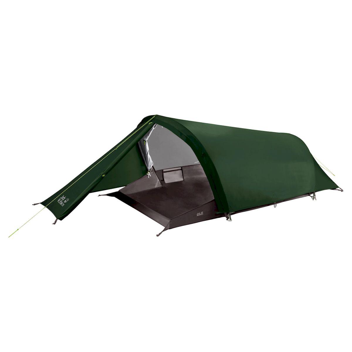 Палатка Jack Wolfskin Gossamer II, 3003641-4502, темно-зеленый, 2-местная showy flowers printed gossamer long scarf