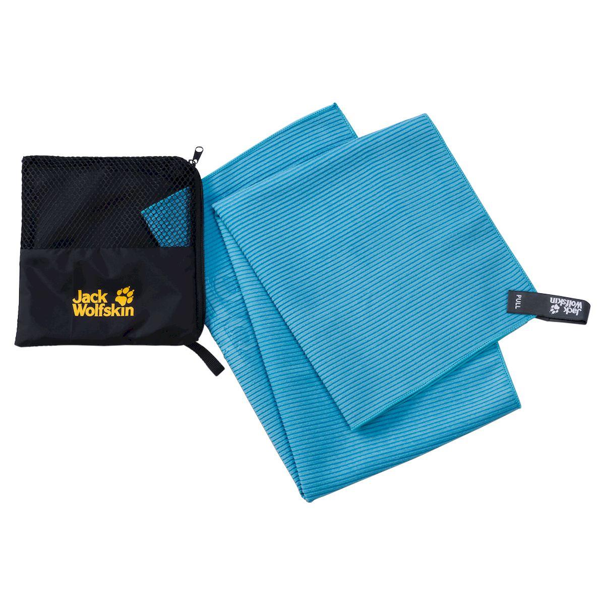 Полотенце спортивное Jack Wolfskin Great Barrier Towel M, 8006431-1081, бирюзовый, 80 х 40 см