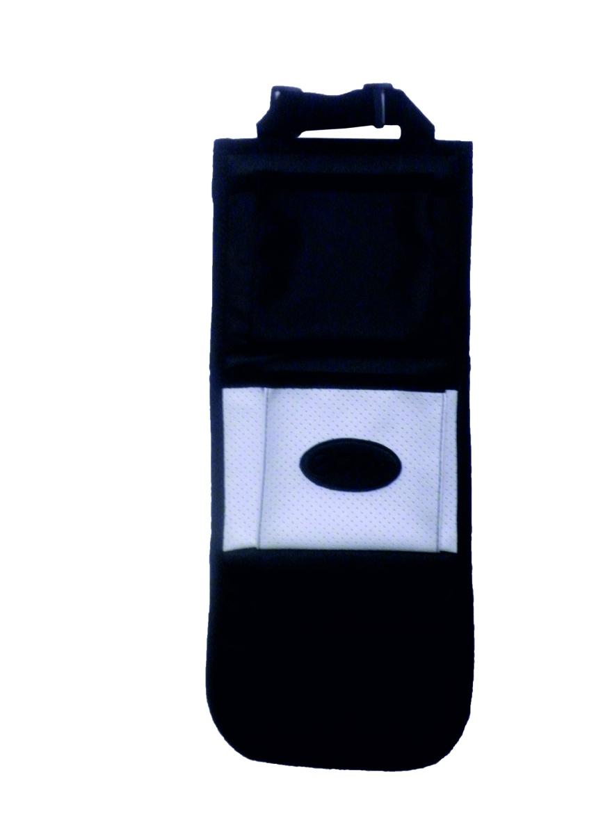 Подвесной органайзер ECHHOO 01032/3, 01032-белый, белый01032-белыйНазначение:Органайзер подвесной с тремя карманами для хранения мелочей. Предназначен для хранения различных бытовых любых мелочей. Органайзер подойдет для ванной, его удобно использовать в прихожей, в детской. Органайзер также прекрасно подойдет для шкафчика в детском саду.размер 18Х45 смизготовлено из высокопрочной износоустойчивой Экокожи, цикл истирания 40000 разтри объемных кармананижний объемный карман из эластичной сеткиверхнее регулируемое крепление на ремнелегко чистятся влажной тряпкой или салфеткойиндивидуальная упаковкаРазличные цветовые решения