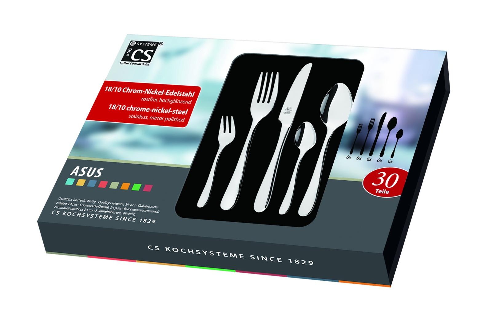 Набор столовых приборов CS-KOCHSYSTEME CS044565, серебристый набор кухонных ножей cs kochsysteme cs000189