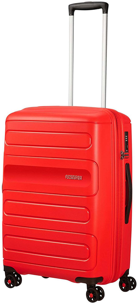 Чемодан American Tourister Sunside, четырехколесный, 51G-00002, красный, 72,5 л чемодан american tourister sunside четырехколесный 51g 09001 черный 35 л