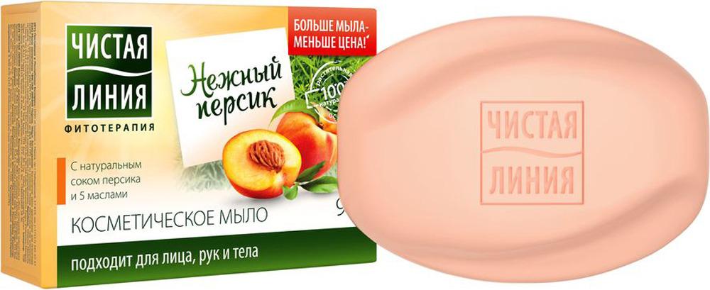 Чистая Линия Мыло косметическое Персик, 90 г