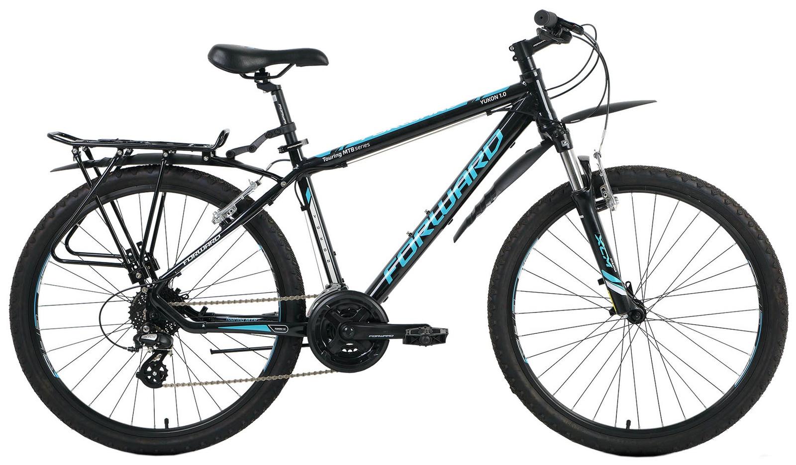 Велосипед Forward YUKON 1.0, RBKW6M66R017, черный велосипед forward barcelona 1 0 2017 1 скорость рама 17 синий
