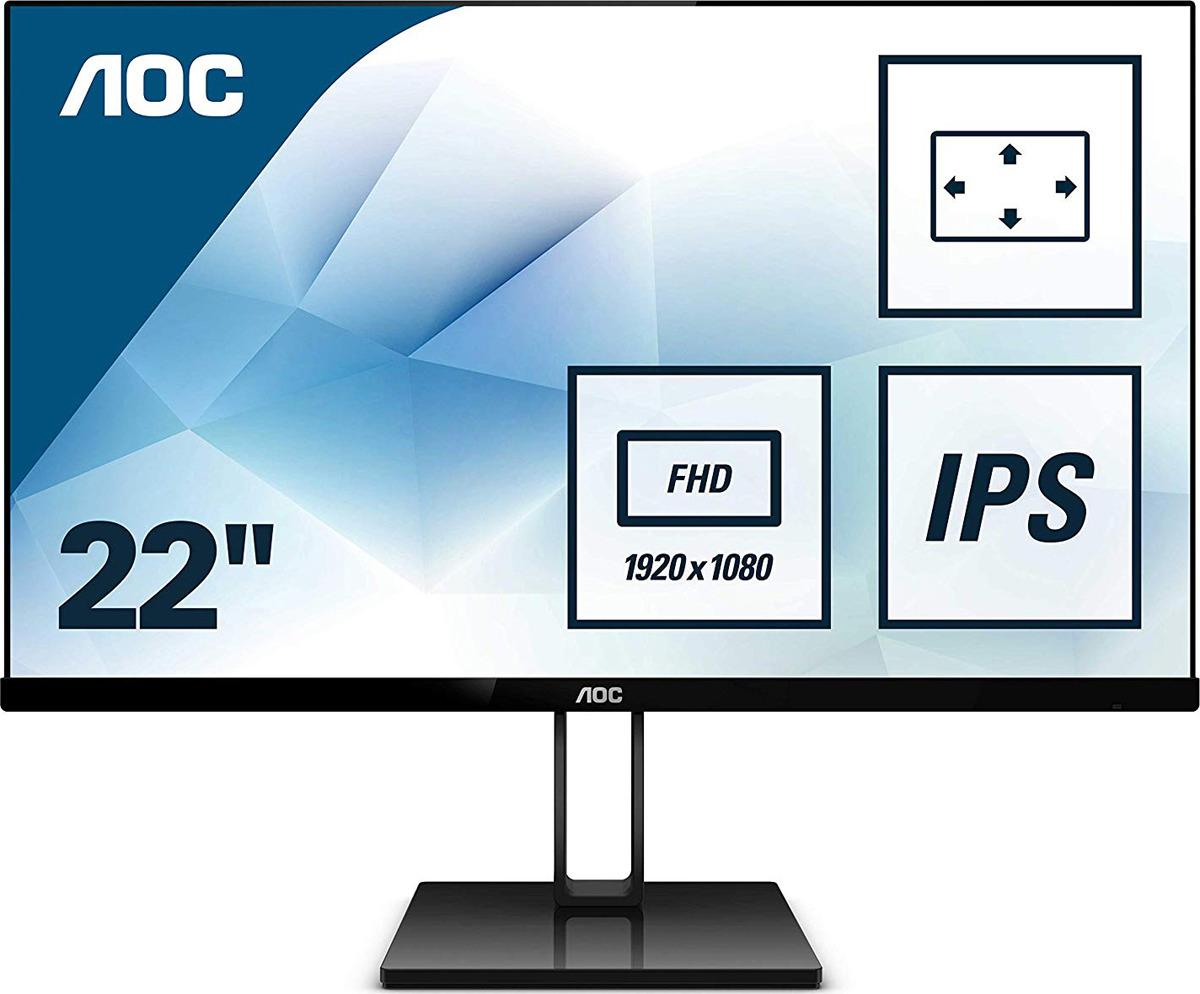 Монитор AOC 22V2Q, черный lcd monitor aoc 22v2q